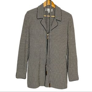 ST. JOHN Collection by Marie Gray Striped cardigan